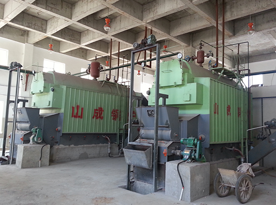 中铁十一局薛家湾神华铁路集装站锅炉安装工程