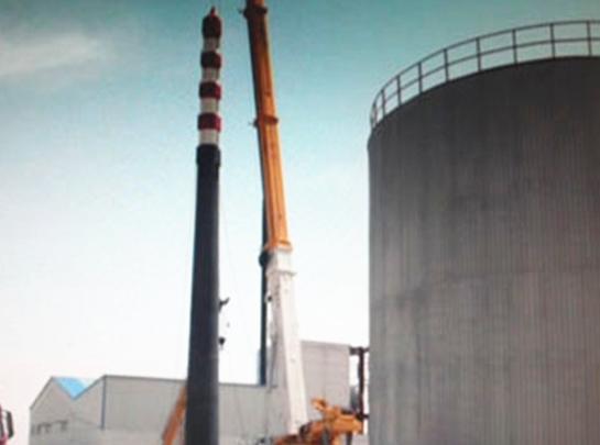 宝塔石化二连浩特公司Φ2200×40米钢烟囱制安工程