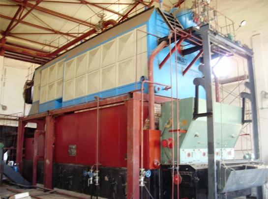 宝塔石化二连浩特油库SZL20T锅炉安装工程