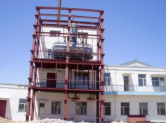 宝塔石化二连浩特油库大气热力式除氧器安装工程